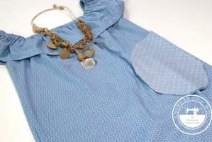 Bolsillo de vestido azul