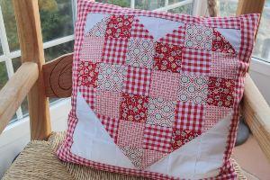 Cojín corazón patchwork